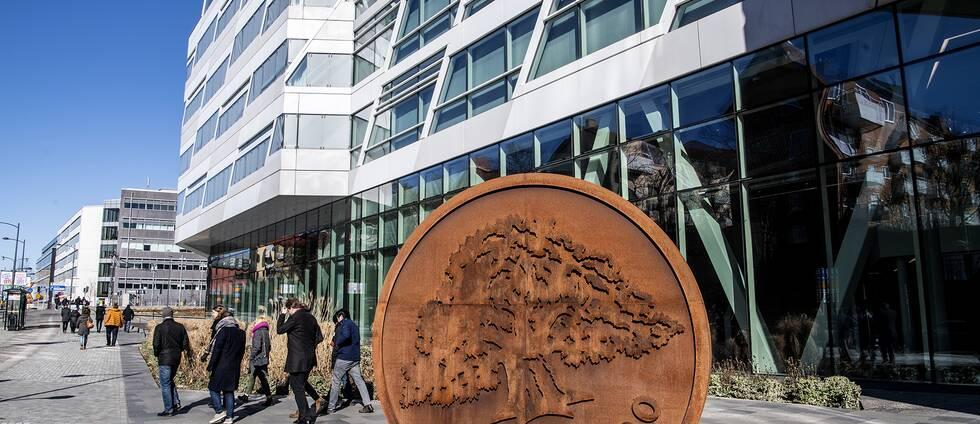 Bild på Swedbanks huvudkontor i Sundbyberg utanför Stockholm