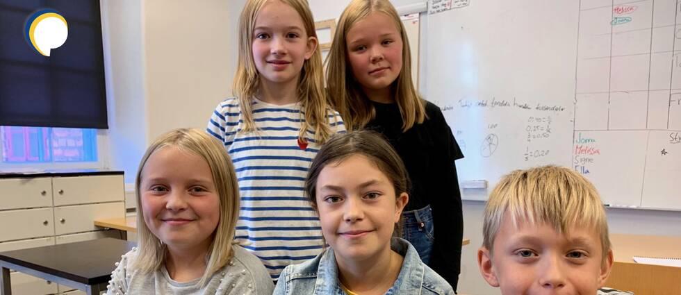 Femteklasssarna på Entréskolan i Eskilstuna.