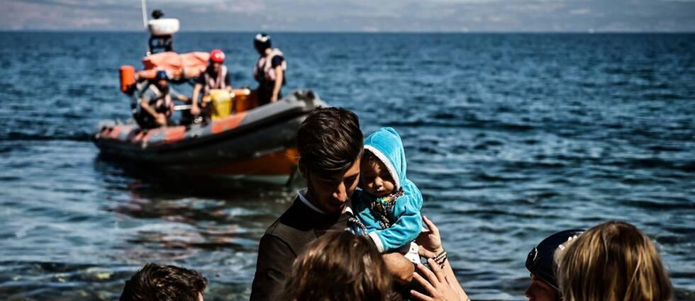 Antalet migranter och flyktingar som tar sig till från Turkiet till Grekland har ökat de senaste månaderna.