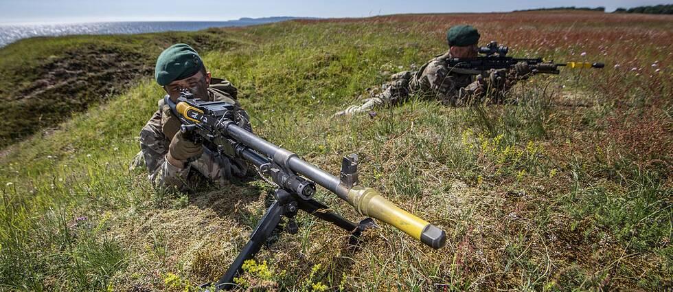 Brittiska soldater på Ravlunda skjutfält
