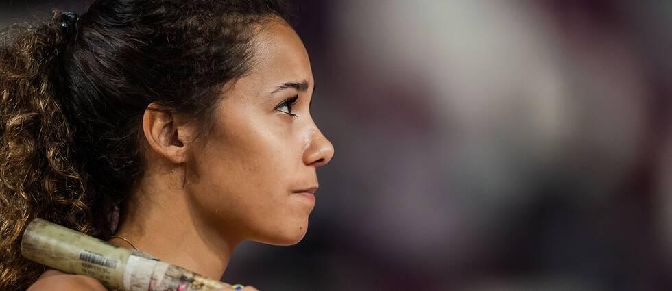 Angelica Bengtsson under VM i Qatar.