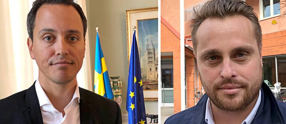 Philip Sandberg (L), kommunstyrelsens ordförande i Lund och hans motpart i Staffanstorp, Christian Sonesson (M).