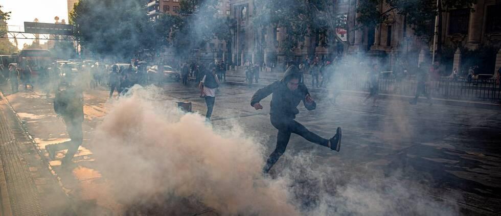 Protester i Santiago