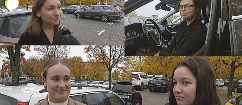 Ett montage av fyra bilder på studenter vid Örebro universitet.