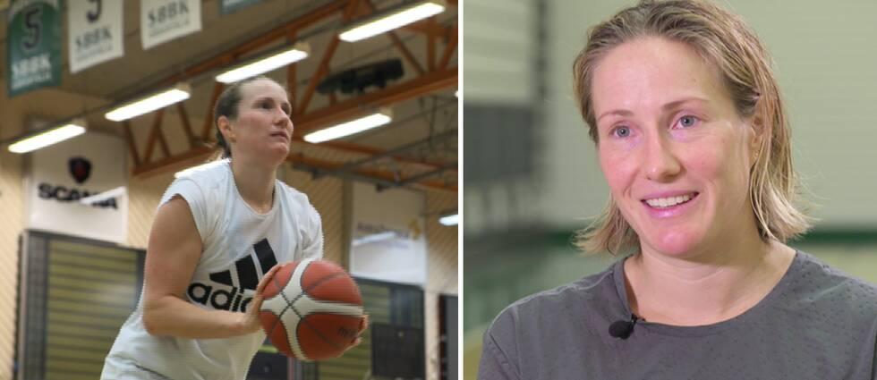 Frida Eldebrink är kontraktslös men tränar med Telge och drömmer om OS.