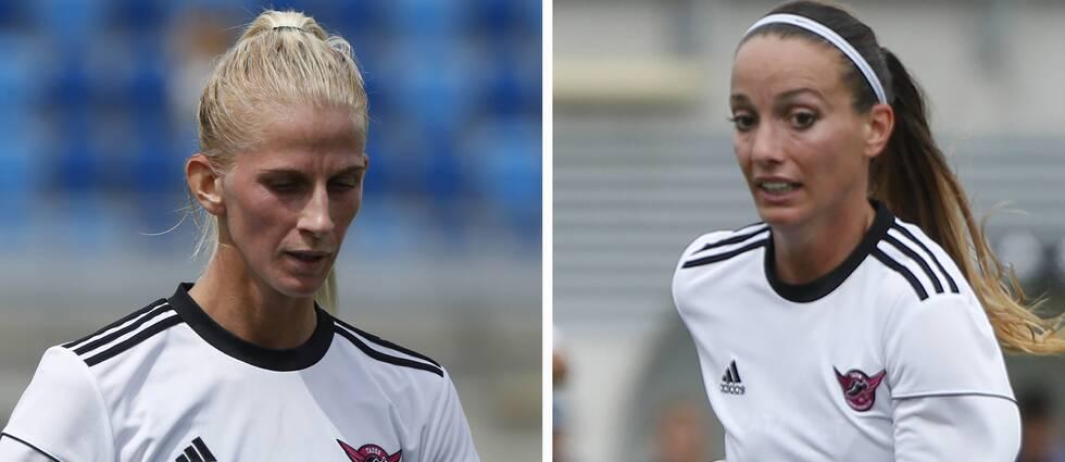 Sofia Jakobsson och Kosovare Asllani spelar i La Liga, som nu hotas av strejk.