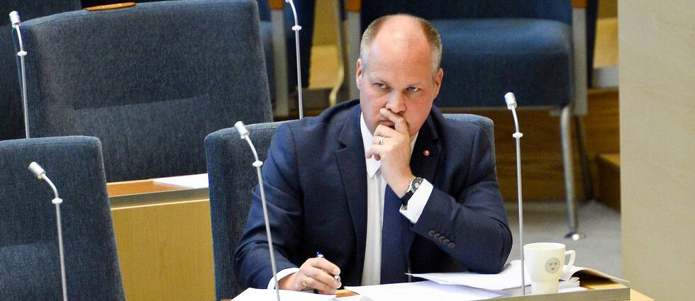 Morgan Johansson i riksdagens plenisal