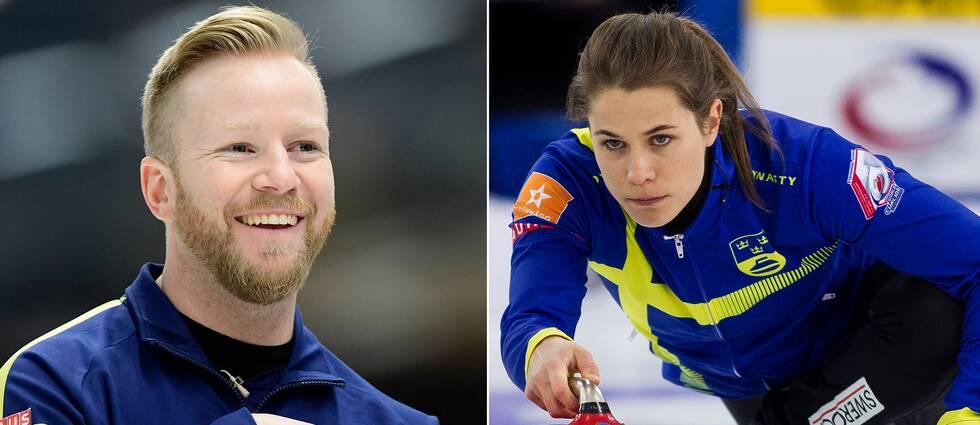 Niklas Edin och Anna Hasselborg.