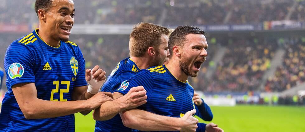 Marcus Berg gav Sverige en drömstart mot Rumänien.