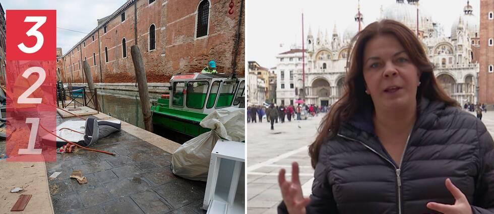 SVT:s utrikesreporter Jennifer Wegerup om skadorna efter översvämningarna i Venedig