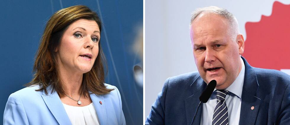 Eva Nordmark och Jonas Sjöstedt.