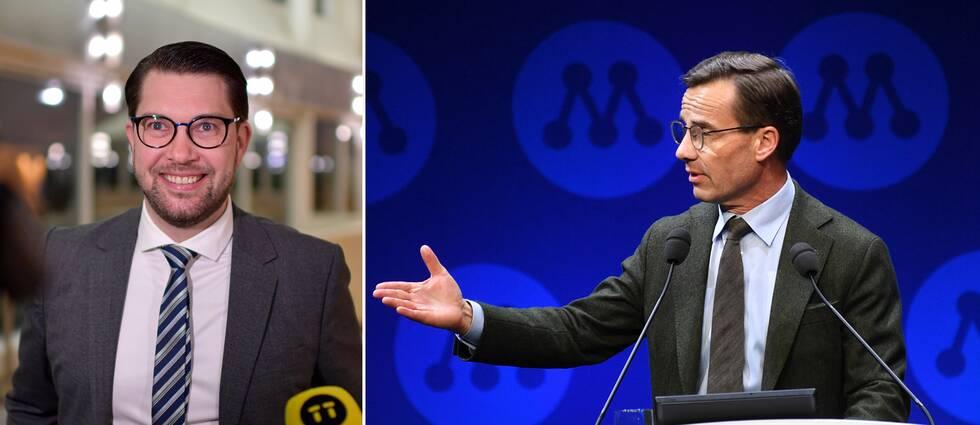 """""""Om Moderaterna någon gång ska kunna ta sig tillbaka till regeringsmakten framstår i dag Sverigedemokraterna som enda vägen dit"""", skriver SVT:s Mats Knutson."""