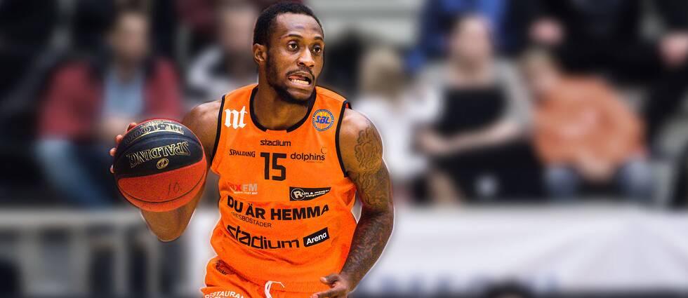 Norrköpings Kareem Canty i Svenska basketligan