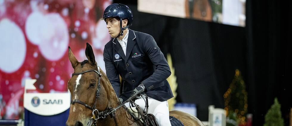 Henrik von Eckermann med hästen Hannah under Sweden International Horse Show i slutet av november.