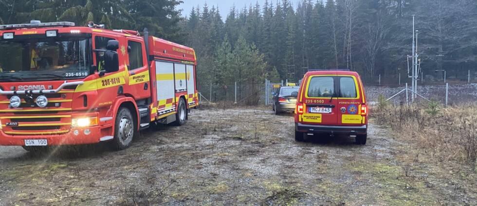 Brandbilar vid kabelbrand Stäket