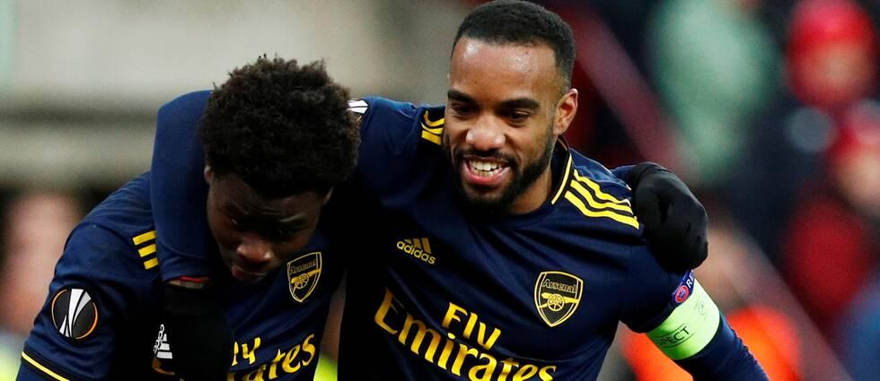 Bukayo Saka och Alexandre Lacazettes Arsenal är vidare i Europa League.