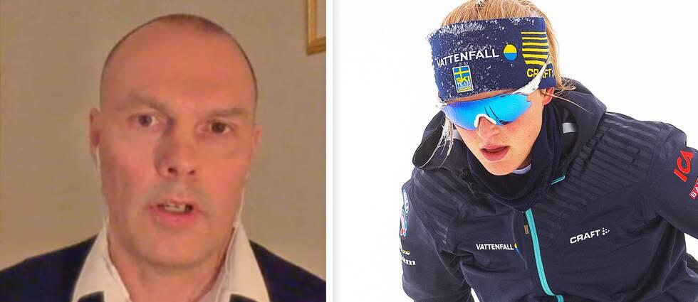 """Michael Svensson, lektor i idrottsmedicin, menar att många idrottare ligger på minus i energiintag under tunga träningsperioder. Nyligen stoppades Frida Karlsson av skidförbundet för att """"komma i balans näringsmässigt""""."""