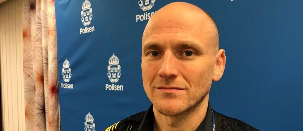 Polisens insatschef Johan Dyrander.