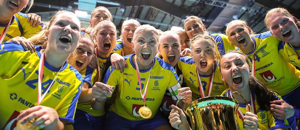 Svenskt jubel efter sjunde raka VM-guldet.