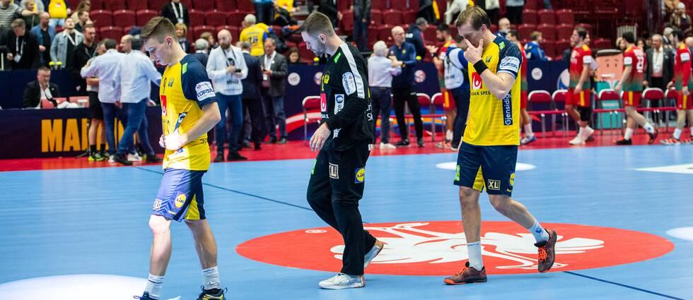 Jerry Tollbring, Andreas Palicka och Max Darj deppar.