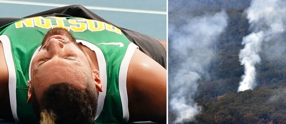 Är de tidigare bränderna farliga för Nick Kyrgios och de andra Australian Open-spelarna eller ej?