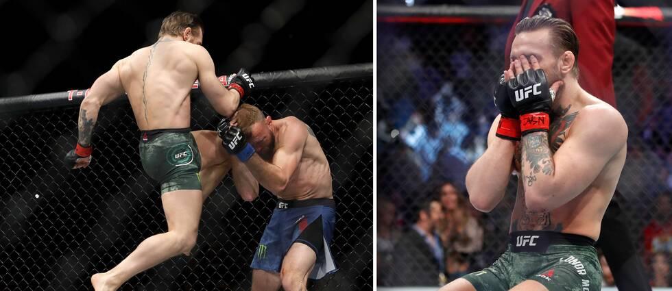 Förre mästaren Conor McGregor knockade Donald Cerrone bara 40 sekunder in i nattens stora UFC-match i Las Vegas.
