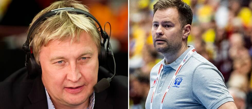 Magnus Grahn och den svenska Kristjan Andresson på vardera bild.
