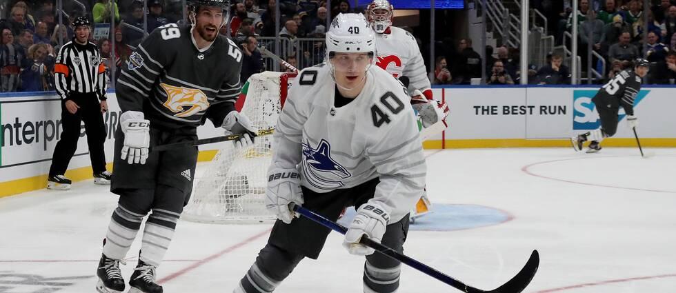 Elias Pettersson gjorde två mål i All Star-finalen.