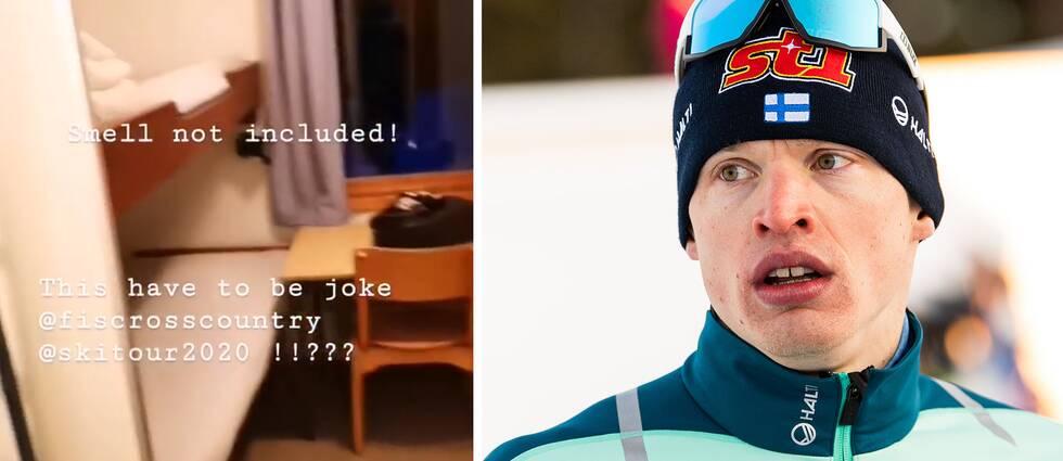 """Iivo Niskanen har lagt upp klipp från boendet i Åre på Instagram där han skriver """"Det här måste vara ett skämt""""."""