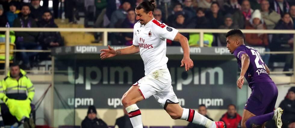 En man mer räckte inte för Zlatan Ibrahimovics Milan mot Estevao Dalberts Fiorentina.