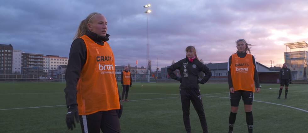 IK Uppsala tränar inför Damallsvenskan