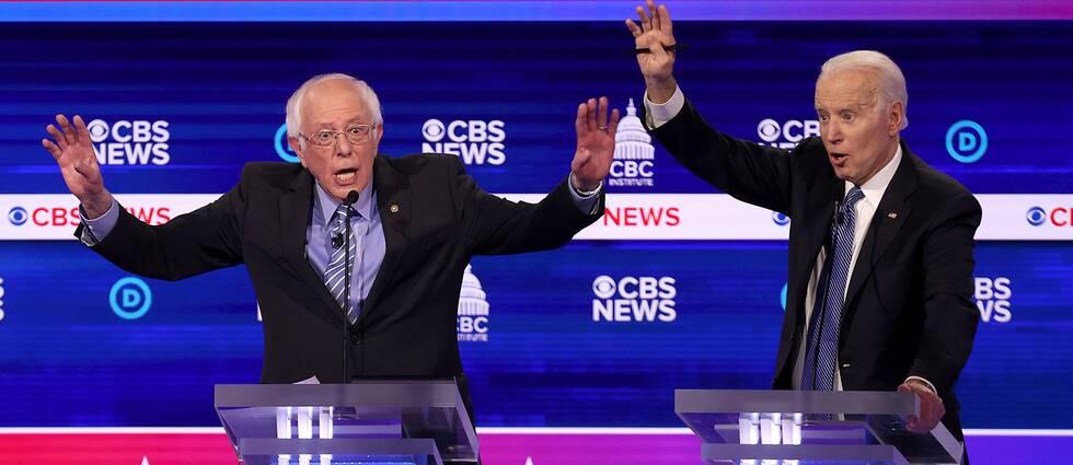 Bernie Sanders och Michael Bloomberg