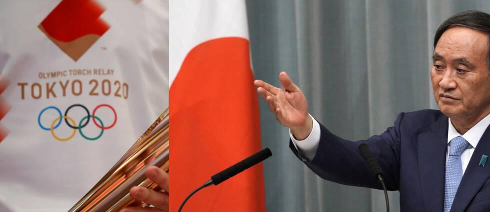 Yoshihide Suga slår fast att Tokyo-OS kommer att arrangeras.