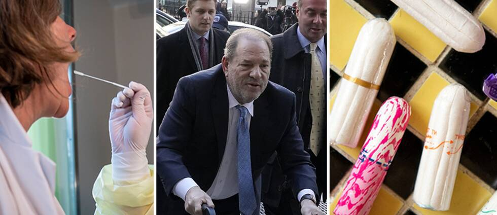Coronatest, Harvey Weinstein och tamponger.