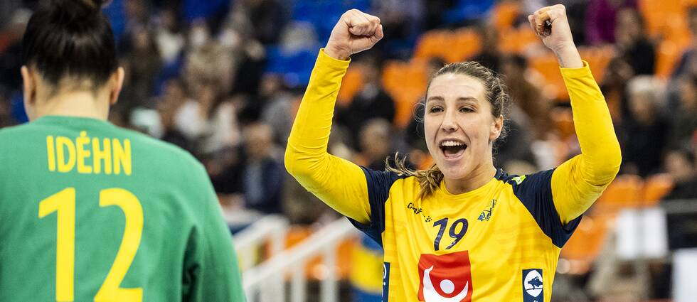 Anna Lagerquist under VM i vintras.