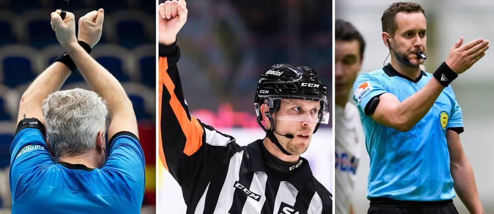 Domare från innebandy, ishockey och fotboll.