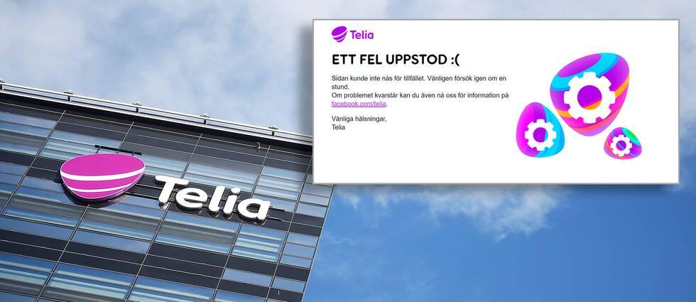 Telias problem drabbade även företagets hemsida som låg nere