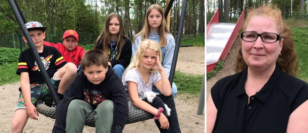 Thom Eriksson, Edwin Andersson, Hanna Lundmark, Ninja Aeli Fredriksson, Saga Wallin och Oscar Evén går i olika klasser på Bäckhammarskolan. Det gör Anki Östmans barn också.