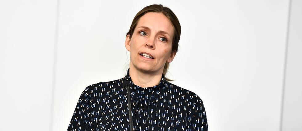 Sara Byfors, Folkhälsomyndigheten, under den dagliga myndighetsgemensamma pressträffen om om covid-19.