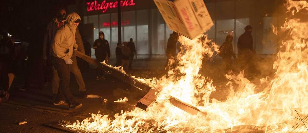 Protester i Oakland.