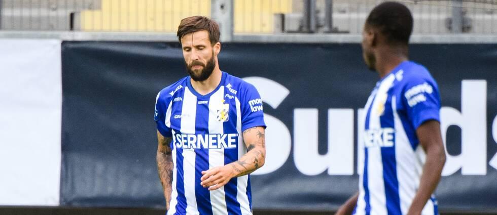 IFK Göteborgs Mattias Bjärsmyr deppar efter 0-1 under fotbollsmatchen i Allsvenskan mellan IFK Göteborg och Mjällby den 22 juni 2020 i Göteborg.
