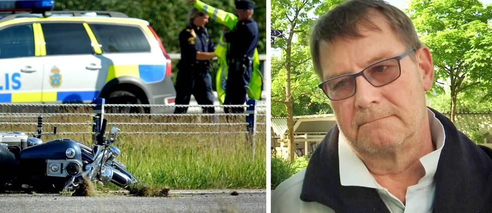 Ewald Ornstein från särskilda sjukvårdsledningen i Örebro län uppmanar mc-förare att vara extra försiktiga under coronapandemin.