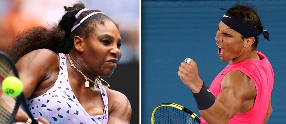 Tennisstjärnorna Serena Williams och Rafael Nadal lär jubla över Wimbledons beslut.