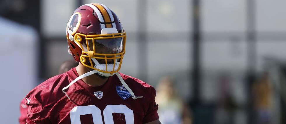 Montez Sweat som spelar i Washington Redskins.