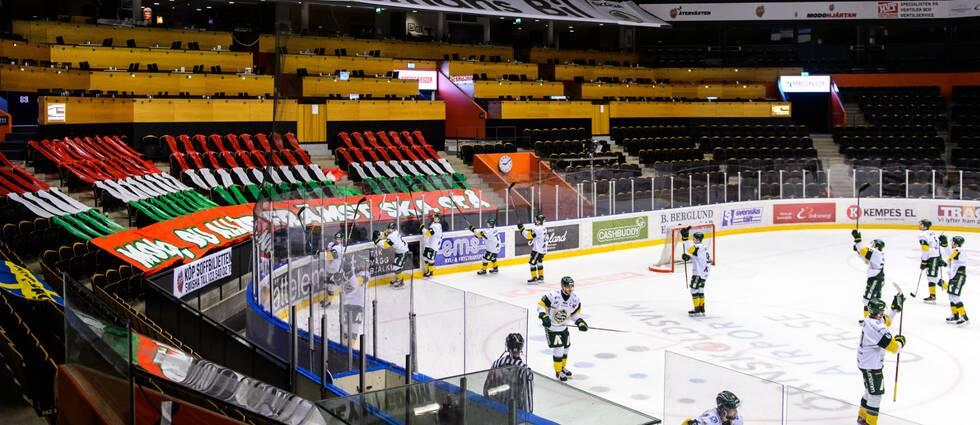 Match i hockeyallsvenskan mellan Modo och Björklöven