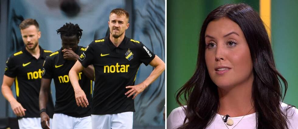 AIK har inlett allsvenskan svajigt. Till höger fotbollskrönikören Therese Strömberg.