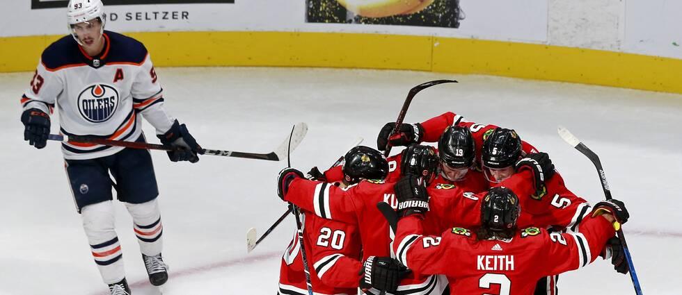 Ett sent mål av Chicago säkrade segern mot Ryan Nugent-Hopkins Edmonton.