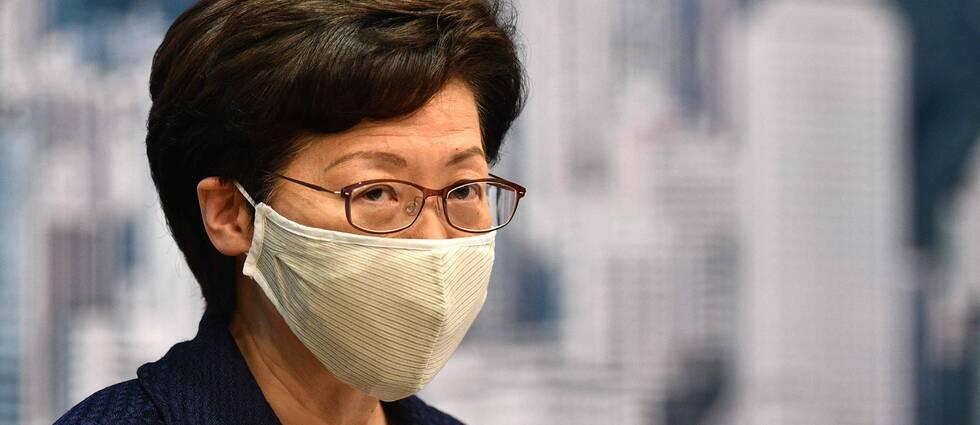 Trumpadministrationen har tidigare hotat med sanktioner mot bland annat Carrie Lam.