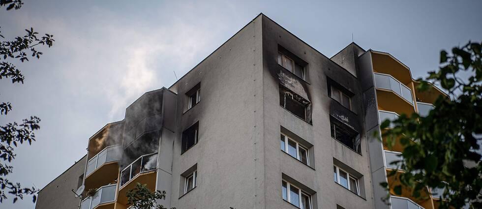 Branden bröt ut på elfte våningen
