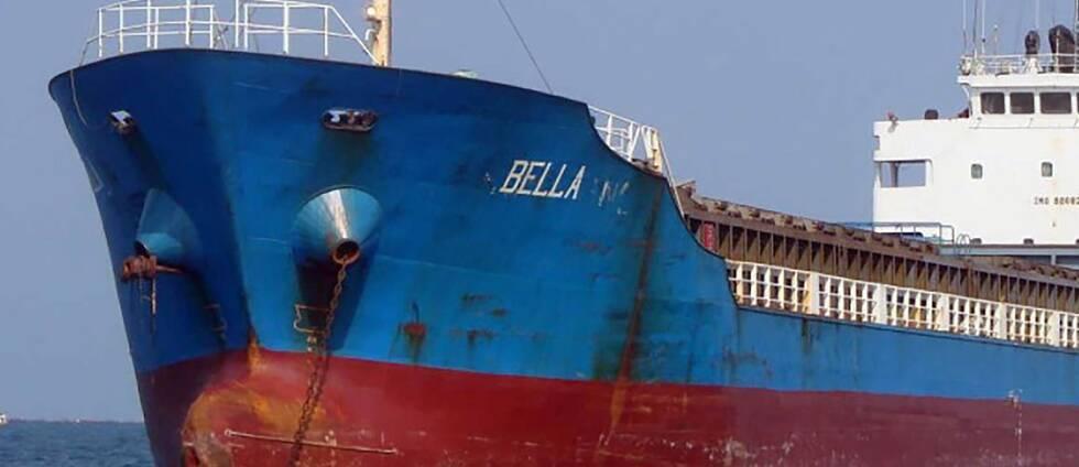 USA:s justitiedepartement har distribuerat foto av fartyget Bella från som fraktade olja från Iran. Det är okänt när fotot togs.